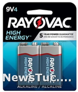 Rayovac 4 Count Pack of 1 No. 1 brand Alkaline 9V Batteries
