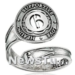 High-quality Numerology Alex and Ani Sterling Silver Size 7-9 Spoon Ring