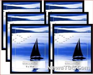 Glass Fronts, 8x10, 6 Count Americanflat Black Pack-8x10 Picture Frame