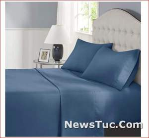 Warm Weather Cooling Elastic Comfort Spaces 4 Piece Sheet