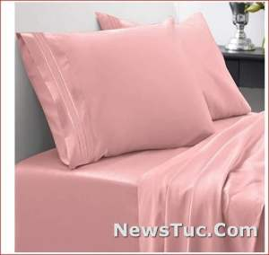 Soft Egyptian Quality Brushed 2Pillow Cases Bed Sheet Set