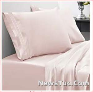 """DEEP Pocket 21"""" Home Collection Pink Luxury Bed Sheet Set"""