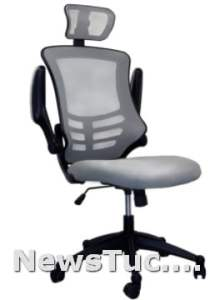 Headrest And Flip-Up Arms Modern High Back Mesh Executive Black Home Office Computer Desk Chair