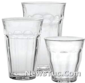 Frustration-Free Packaging Picardie Duralex 18-Piece Clear Drinking Glasses Set