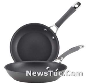 Circulon Radiance Hard 8.5 and 10 Inch Gray Anodized Nonstick Frying Cast Iron Skillet Pan