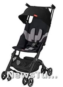 Pockit+ All-Terrain Ultra-Compact Lightweight Canopy and Reclining Seat in Velvet Black Travel Stroller