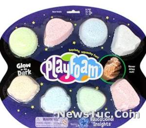 Educational Insights Playfoam Glow in the Dark 8-Pack: Non-Toxic, Sensory Toy, Ages 3+