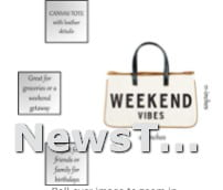 Wipe clean Weekend Vibes Creative Brands Hold Everything Tote Bag