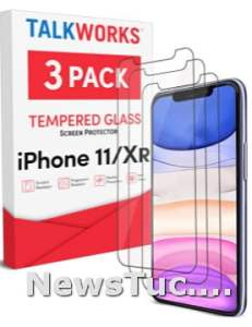 3Pack Tempered Glass Film TalkWorks iPhone 11 Screen Protector