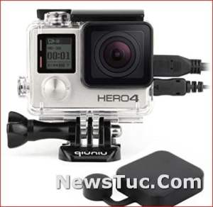 Side Open Protective GoPro Hero 3 with LCD Touch Backdoor Skeleton Housing Case