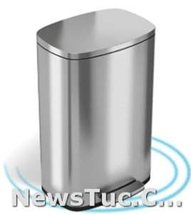 Silent and Gentle Lid iTouchless SoftStep 13.2 Gallon 50 Liter Pedal Garbage Stainless Steel Step Trash Bin