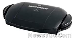 Fat-Removing Slope Black 5-Serving George Foreman Removable Plate Electric Indoor Panini Press Grill