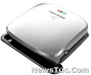 Drip Tray George Foreman 4-Serving Removable Platinum Plate Panini Press Grill