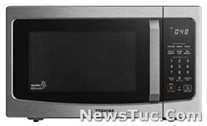 Compatible with Alexa Humidity Sensor Toshiba 1100W, 1.3 Cu Ft, Stainless Steel Microwave Oven