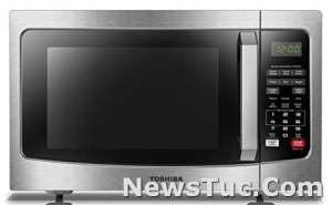 ECO Mode and Sound On/Off, 1.2 Cu. ft, Stainless Steel Toshiba Microwave Oven