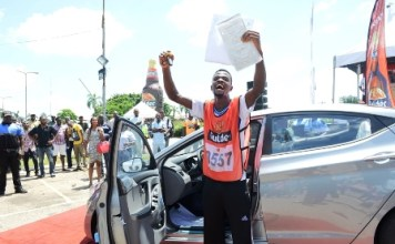 21 years old boy wins car in Gulder Utimate Chase