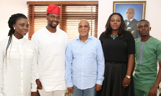 L-R: Senior Manager Communication, Red Media Africa, Sola Obagbemi; Founding Partner, Red Media Africa, Adebola Williams; Chairman, Troyka Holdings, Mr Biodun Shobanjo; and Senior Consultant,The Quadrant Company, Mrs Tosin Adefeko, during a courtesy to the Chairperson of the upcoming Red Summit in Lagos