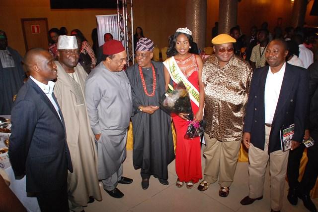 Dignitary with The New Miss Nigeria 2015, Pamela Peter-Vigboro Leesi