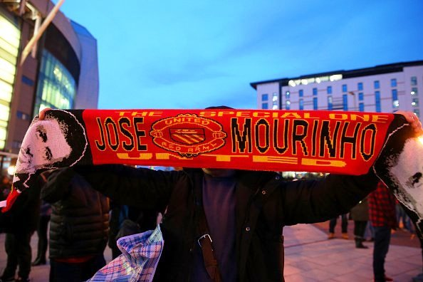 United fans sold Mourinho's scarves outside Old Trafford