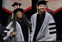 Justin Timberlake, Missy Elliott receive honorary doctorate degrees