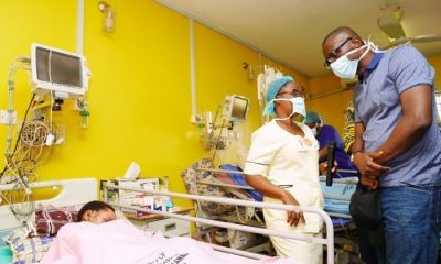 Ijegun Explosion: Sanwo-Olu visits victims at Trauma, Burns Centre, promises support