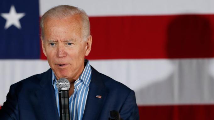 Joe Biden delivers a speech at Philadelphia City Hall