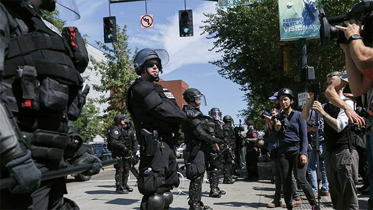 Portland braces for clashes between far right hate groups and Antifa