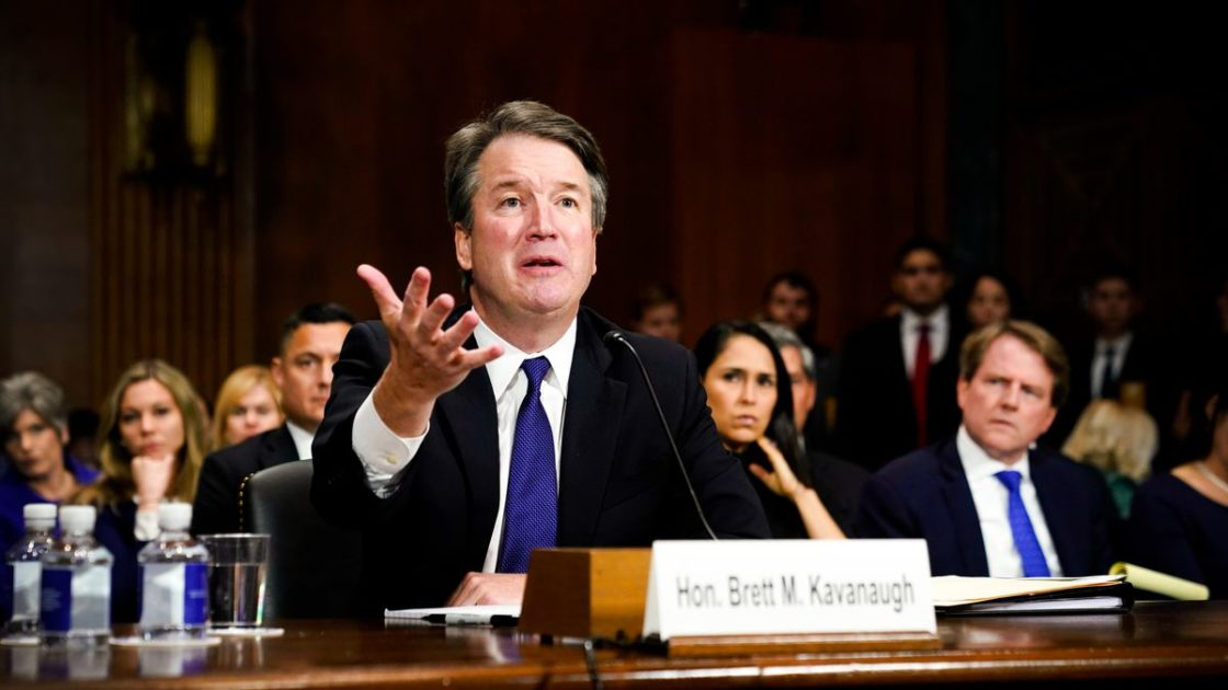 Trump says his DOJ should 'rescue' Brett Kavanaugh