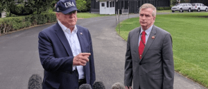 Rear Admiral Peter Brown comes to Trump's rescue