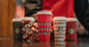 Starbucks just released its new holiday cup designs