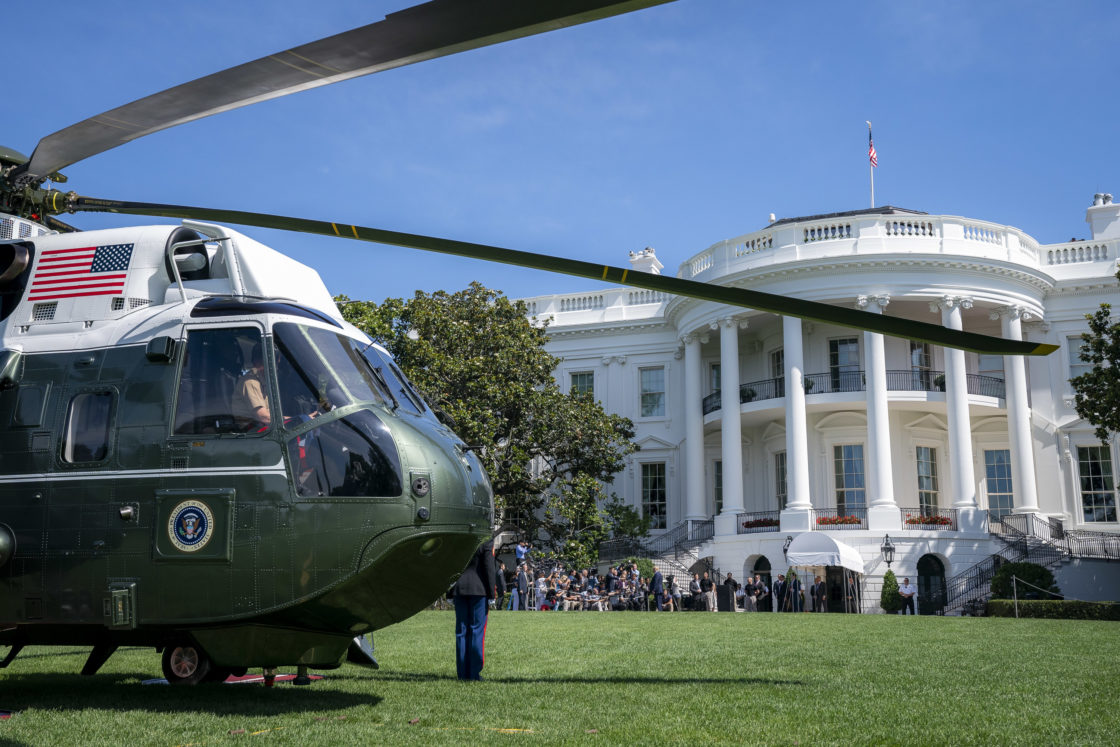 Trump holds a Yellicopter Presser on the Coronavirus: 'There's bigly lines at my bigly rally in Charleston.'