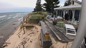 Lake Michigan Storm Expected to Further Erode Dunes Days After Home Demolished