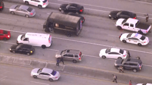 Carjacked UPS vehicle in Florida ends in shootout