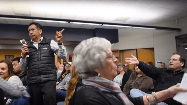 Parent meeting in Michigan about discrimination interrupted: 'Then why didn't you stay in Mexico?'