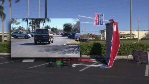 Florida: Man arrested after allegedly plowing van into GOP registration tent