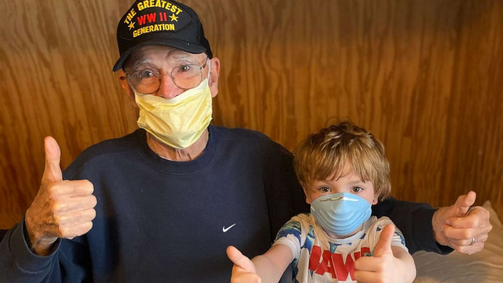 95-year-old WWII veteran shares positive message after surviving coronavirus