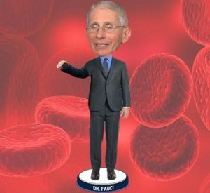 Dr. Fauci bobblehead unveiled, portion of proceeds going to 100 Million Masks Challenge