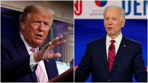 Joe Biden and Trump spoke about how to handle the COVID-19 crisis