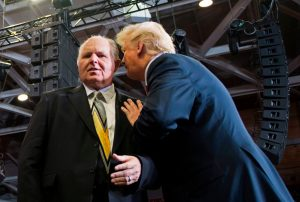 Trump wanted a White House call in talk radio show but didn't want to compete with Rush Limbaugh