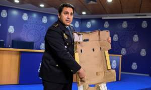 Spanish Police: Smugglers impregnated cardboard with cocaine, Spanish police say