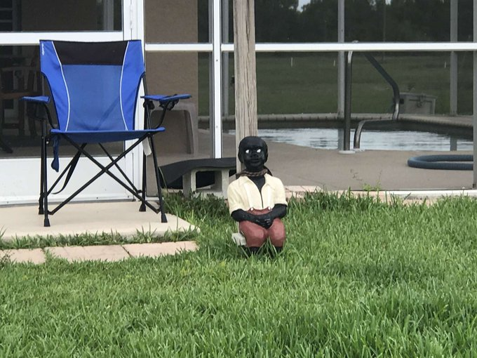 Florida Man's racist lawn ornament destroyed, house egged