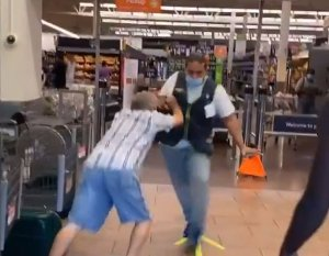 Florida Man flings employees aside, fights to enter Walmart without mask!