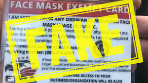 Face Mask Exemption Cards Are the Latest Coronavirus Scam