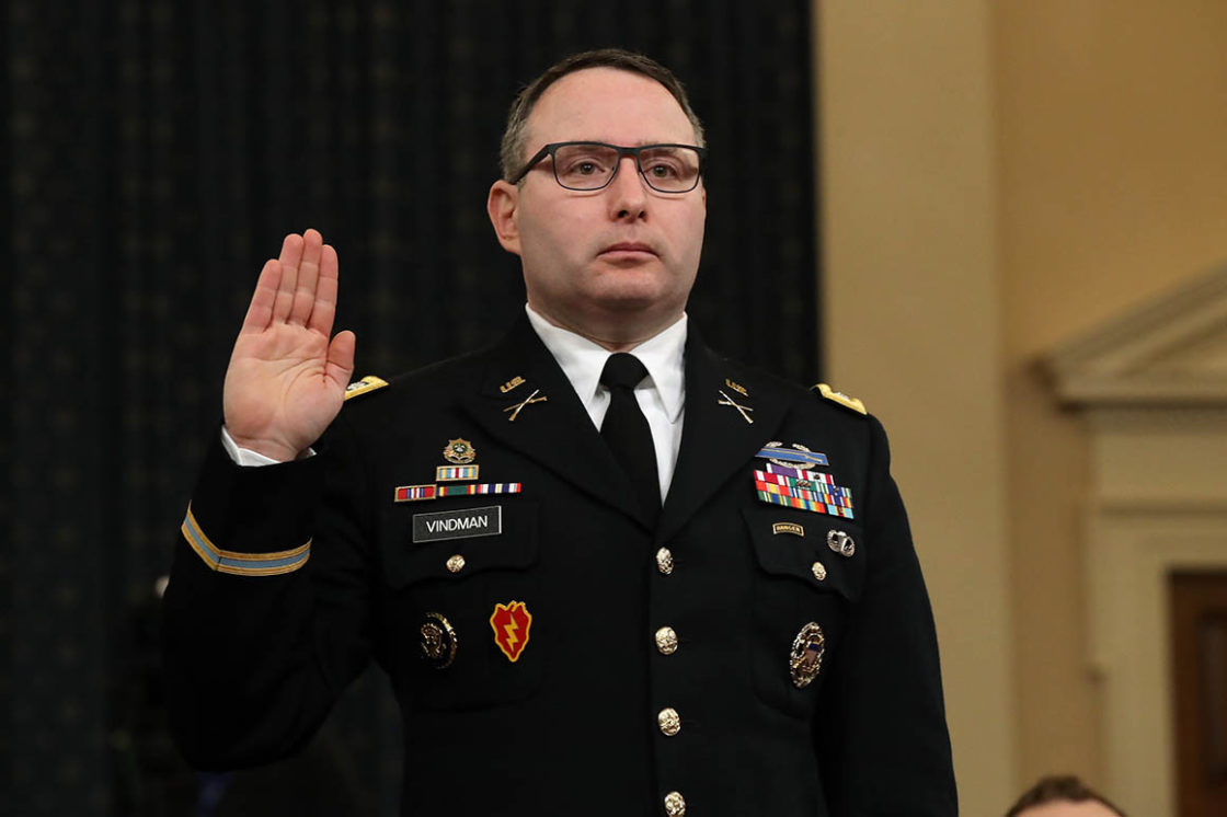 LtC. Vindman to retire from military. His lawyer blames White House 'campaign of bullying, intimidation and retaliation'
