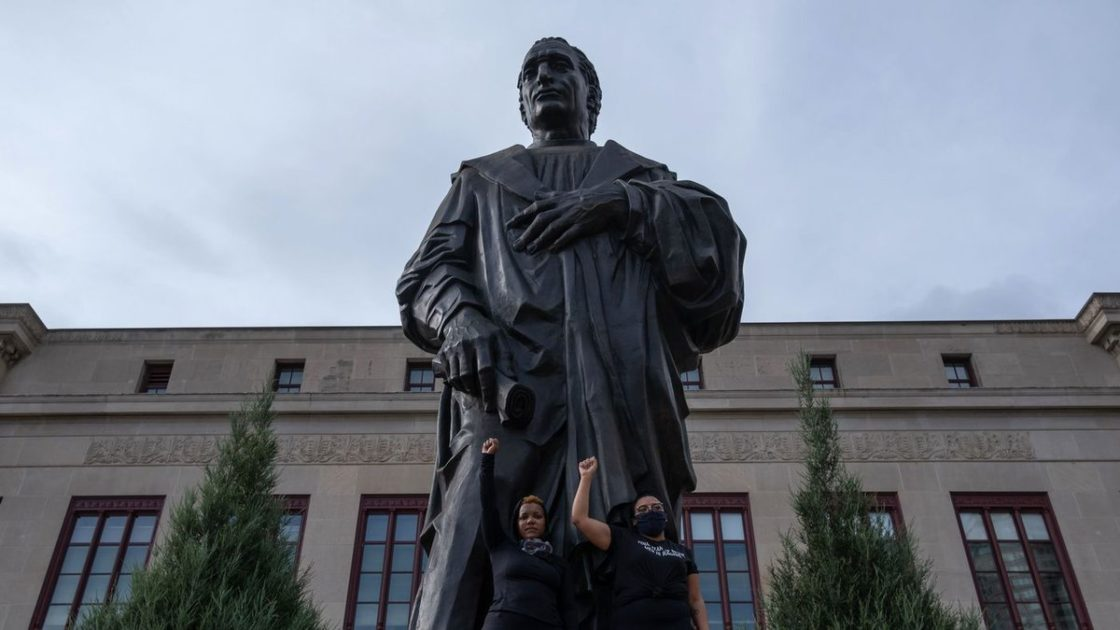 Ohio capital removes statue of namesake Christopher Columbus