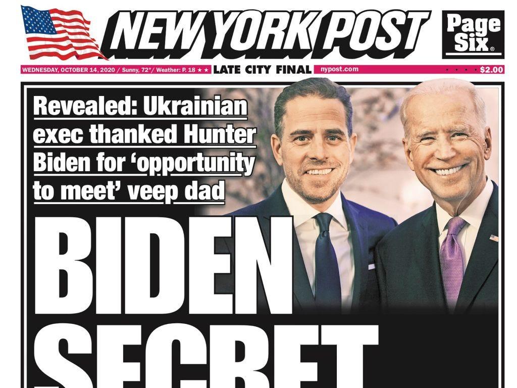 New York Post Published Hunter Biden Report Amid Newsroom Doubts