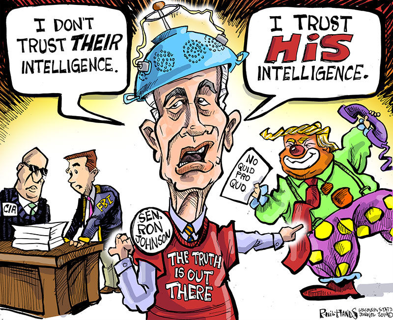 Trumpanzee Ron Johnson keeps on pushing fantasy and lies in the Senate