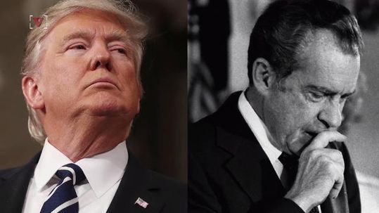 Trump explodes at Nixon comparisons as he prepares to leave office