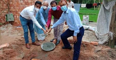 বোদায় যার জমি আছে ঘর নেই, তার নিজ জমিতে গৃহ নির্মাণ কাজের উদ্বোধন