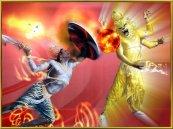 Narasimha zerschmerttert den Dämonen